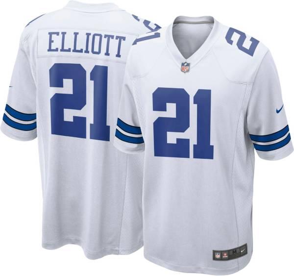 Nike Men's Dallas Cowboys Ezekiel Elliott #21 White Game Jersey product image