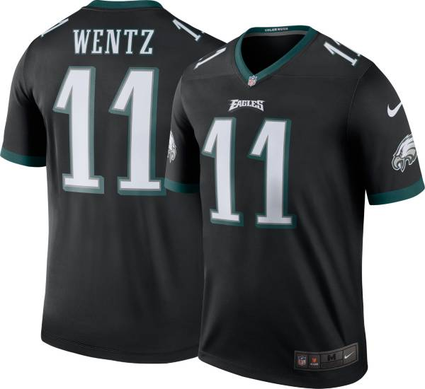 Nike Men's Philadelphia Eagles Carson Wentz #11 Black Legend Jersey product image