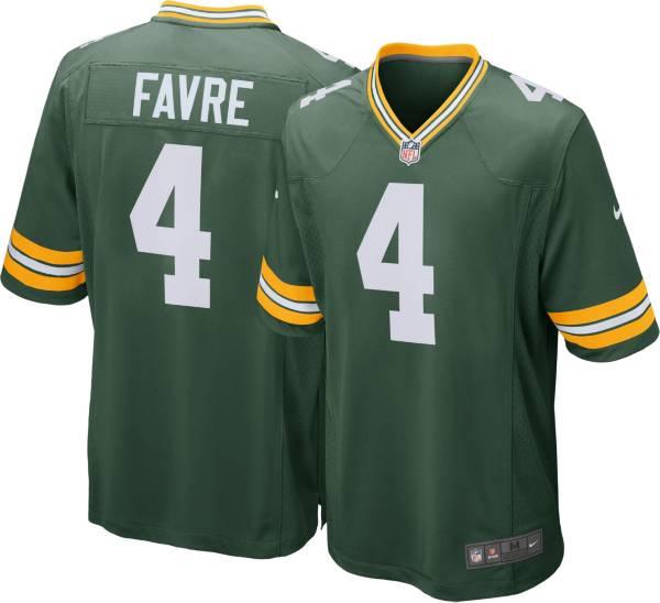 Nike Men's Green Bay Packers Brett Favre #4 Green Game Jersey product image
