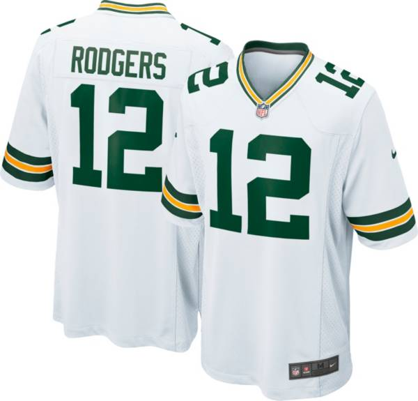 Nike Men's Green Bay Packers Aaron Rodgers #12 White Game Jersey