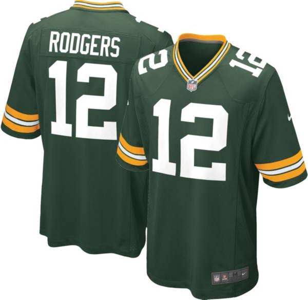 Nike Men's Green Bay Packers Aaron Rodgers #12 Green Game Jersey product image