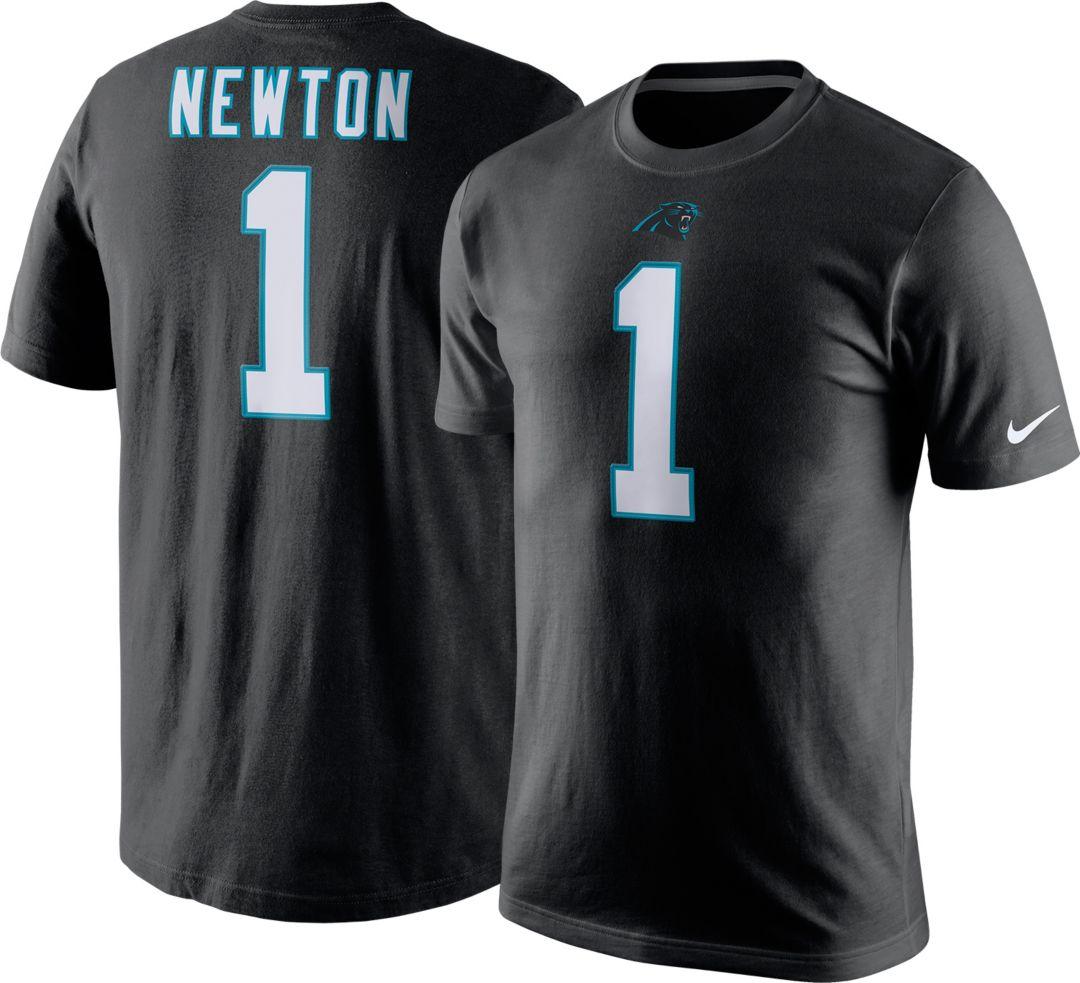 fa7358b0 Nike Men's Carolina Panthers Cam Newton #1 Pride Black T-Shirt.  noImageFound. Previous