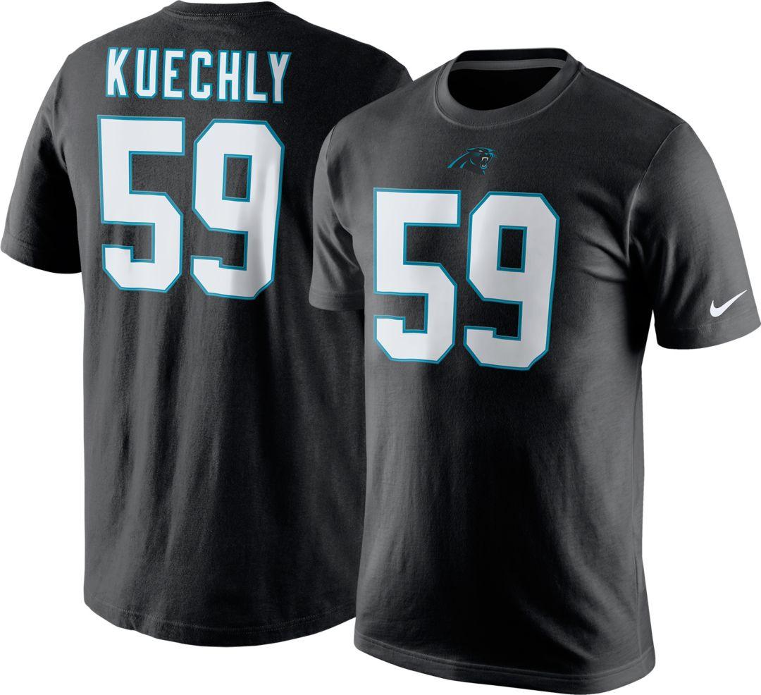 3633ce66 Nike Men's Carolina Panthers Luke Kuechly #59 Pride Black T-Shirt ...