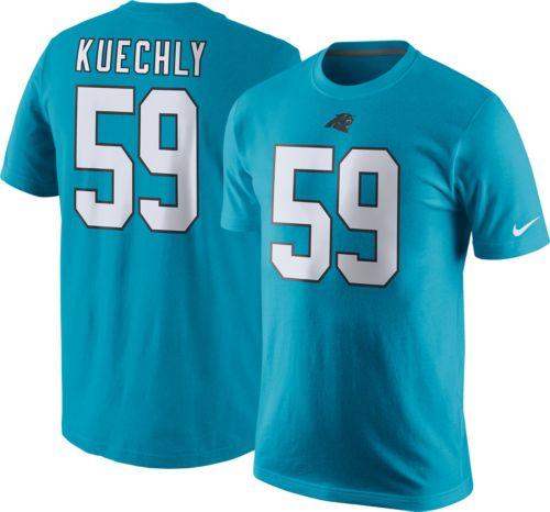 Wholesale Nike Men's Carolina Panthers Luke Kuechly #59 Pride Blue T Shirt  for sale