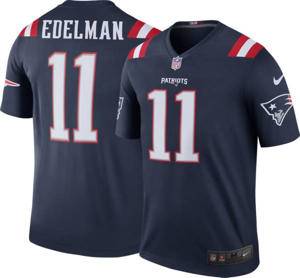 Edelman 11 Medium New New England Patriots Nike Men/'s Away Jersey White