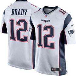 6e4506ab Nike Men's Away Game Jersey New England Patriots Tom Brady #12 ...