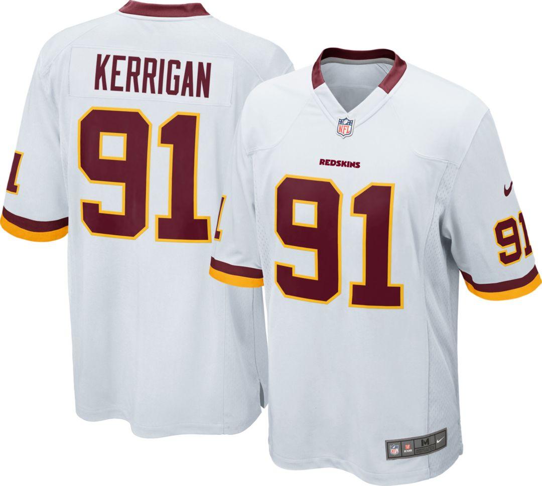 02a3ea16 Nike Men's Away Game Washington Redskins Ryan Kerrigan #91 Jersey