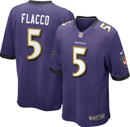 Nike Men s Home Game Jersey Baltimore Ravens Joe Flacco  5  b6de15b5a