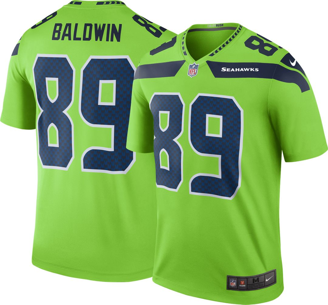 01313af3e Nike Men's Color Rush Seattle Seahawks Doug Baldwin #89 Legend Jersey.  noImageFound. Previous