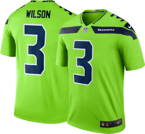 a3ab643eb Nike Men s Color Rush Seattle Seahawks Russell Wilson  3 Legend Jersey.  noImageFound. Previous