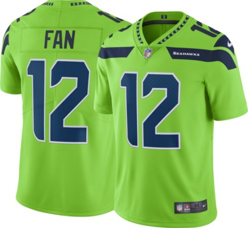 New Nike Men's Color Rush Limited Jersey Seattle Seahawks 12th Fan #12  free shipping