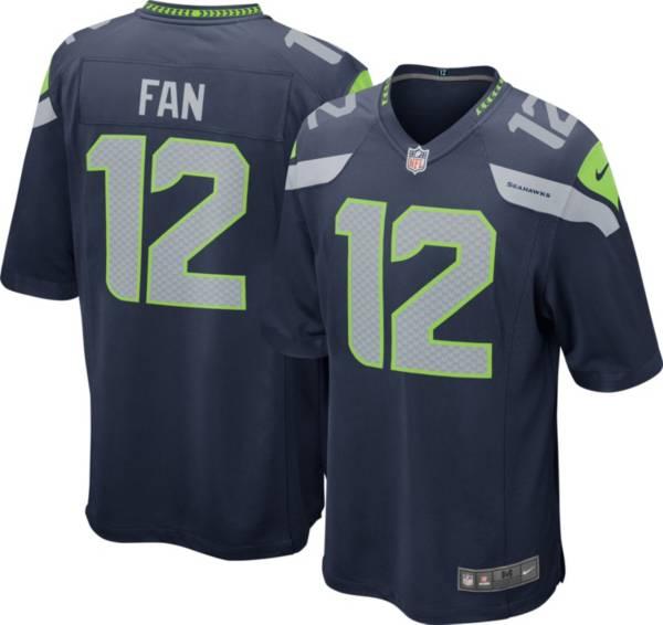 Nike Men's Seattle Seahawks 12th Fan #12 Navy Game Jersey