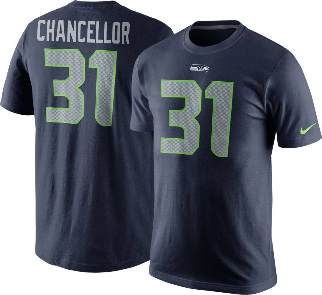 44462936 Nike Men's Seattle Seahawks Kam Chancellor #31 Pride Navy T-Shirt