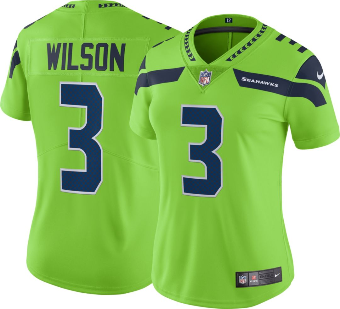 69037c1e Nike Women's Color Rush Limited Jersey Seattle Seahawks Russell Wilson #3