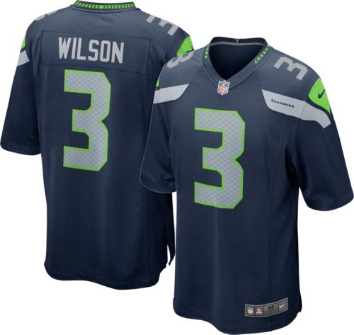 4d80992ed Nike Men s Home Game Jersey Seattle Seahawks Russell Wilson  3 ...
