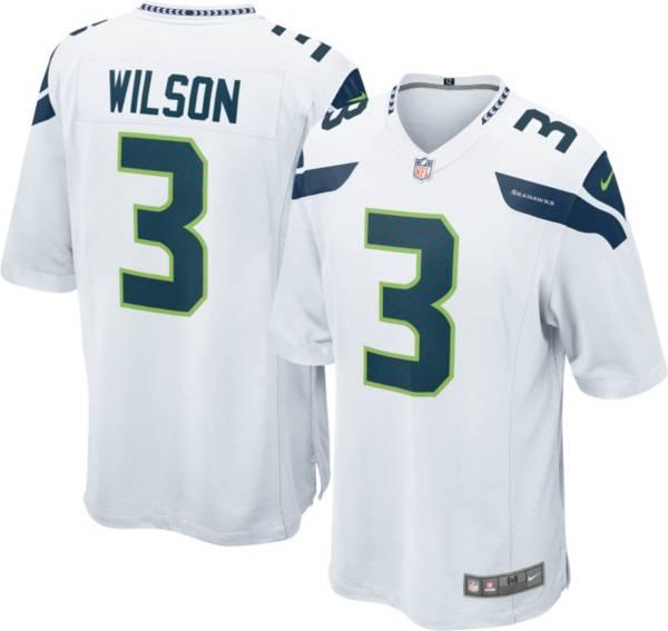 Nike Men's Seattle Seahawks Russell Wilson #3 White Game Jersey