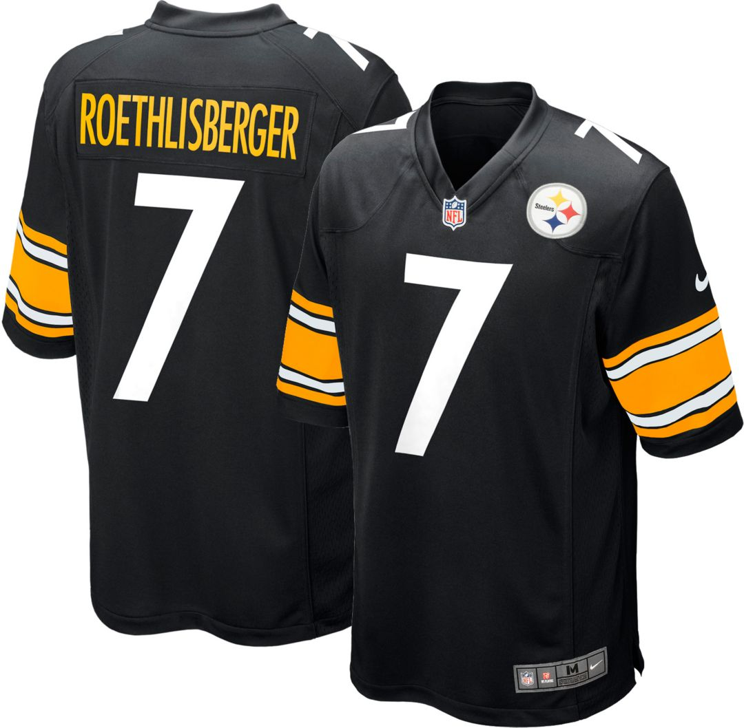6229ddeb5 Nike Men's Home Game Jersey Pittsburgh Steelers Ben Roethlisberger #7 |  DICK'S Sporting Goods