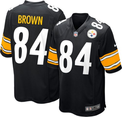 Nike Men s Home Game Jersey Pittsburgh Steelers Antonio Brown  84 ... e76e808f9