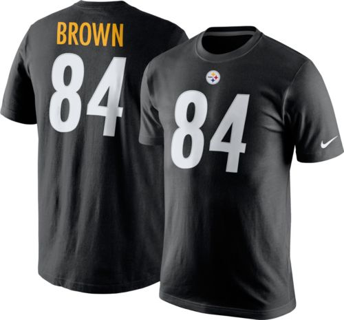 Nike Men s Pittsburgh Steelers Antonio Brown  84 Pride Black T-Shirt.  noImageFound. Previous 43fcb5bb0
