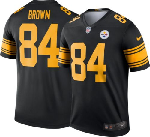 Nike Men s Color Rush Pittsburgh Steelers Antonio Brown  84 Legend Jersey.  noImageFound. Previous 42db87cd74