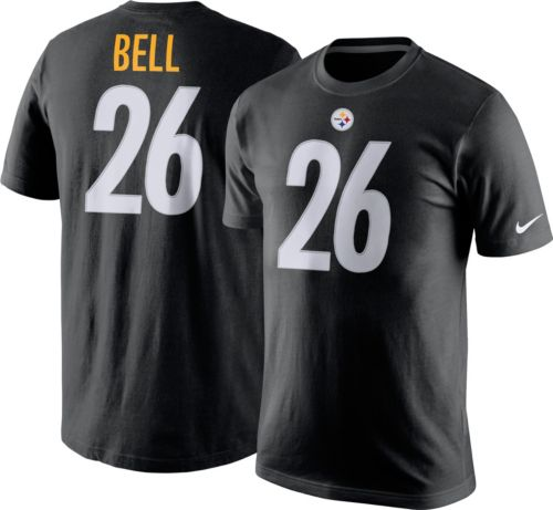 8806d2d1844 Nike Men s Pittsburgh Steelers Le Veon Bell  26 Pride Black T-Shirt ...