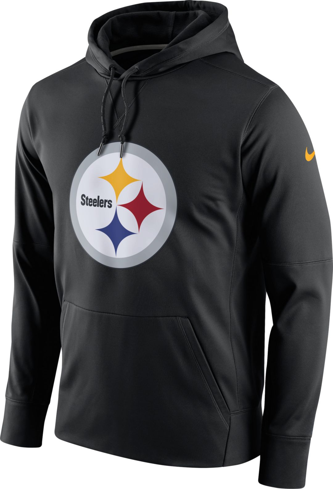 1659a8bf Nike Men's Pittsburgh Steelers Performance Circuit Logo Essential Black  Hoodie