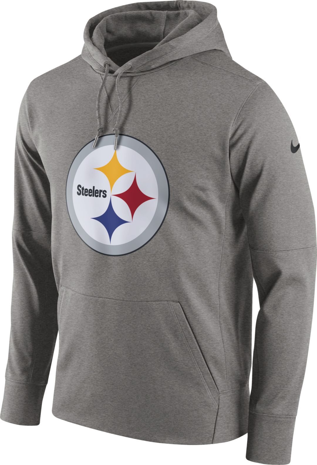 newest 05811 20e43 Nike Men's Pittsburgh Steelers Performance Circuit Logo Essential Grey  Hoodie