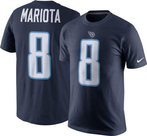 b1a14ca285b Nike Men's Tennessee Titans Marcus Mariota #8 Pride Blue T-Shirt ...
