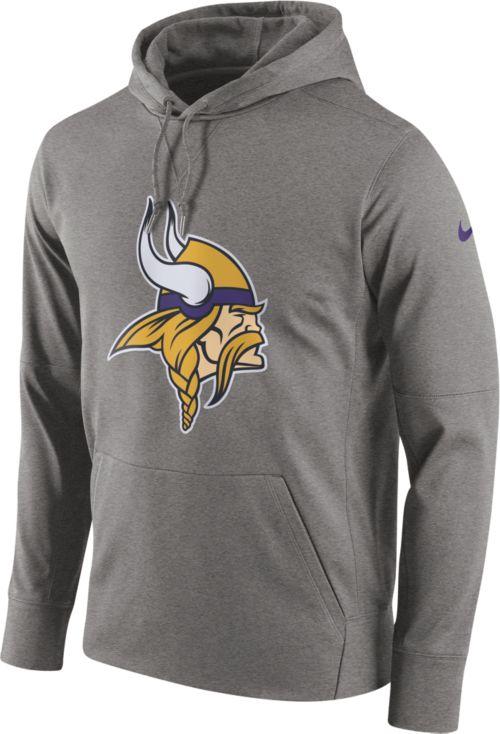 Nike Men s Minnesota Vikings Performance Circuit Logo Essential Grey Hoodie  1 7ddfa7cd8