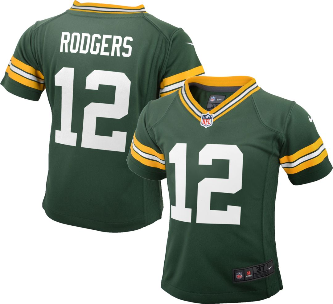 aafcd204 Nike Toddler Home Game Jersey Green Bay Packers Aaron Rodgers #12.  noImageFound. Previous