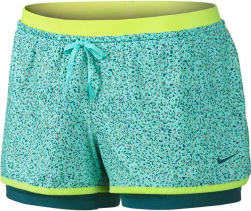5459c92f86492 Nike Women s Full Flex 2-in-1 Splatter Spot Printed Shorts
