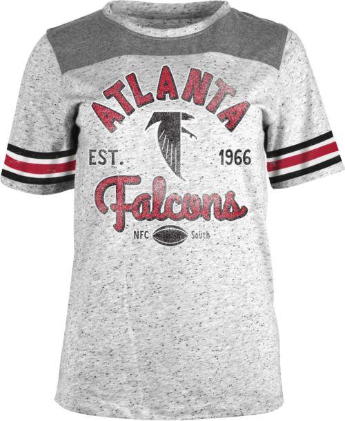 NFL Team Apparel Women s Atlanta Falcons Peppercorn Throwback Grey T-Shirt bae65f161