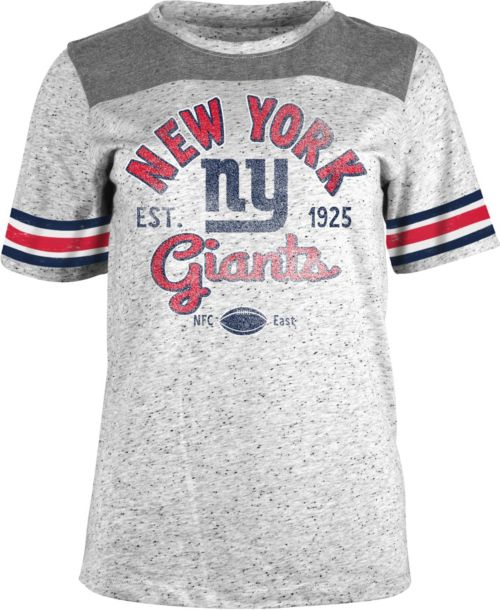 c2cd400e6 NFL Team Apparel Women s New York Giants Peppercorn Throwback Grey T-Shirt.  noImageFound. 1