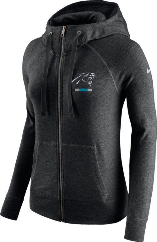 Nike Women s Carolina Panthers Gym Vintage Full-Zip Black Hoodie.  noImageFound. Previous da0e5ba33