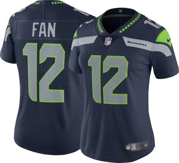 Nike Women's Seattle Seahawks 12th Fan #12 Navy Limited Jersey product image
