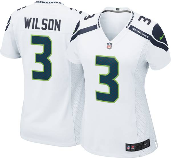 Nike Women's Seattle Seahawks Russell Wilson #3 White Game Jersey product image