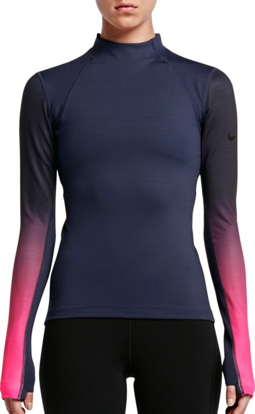 6d835a0ad1 Nike Women s Pro Hyperwarm Fade Printed Long Sleeve Shirt. noImageFound.  Previous