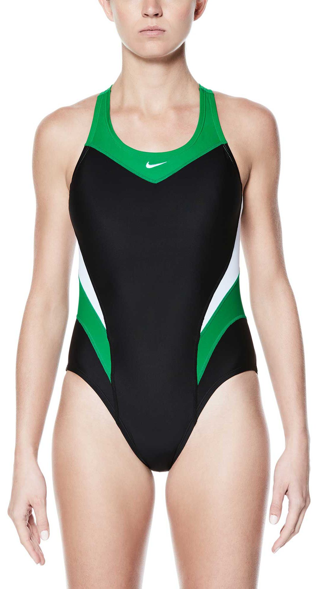 9e76b520a3 Nike Women's Victory Color Block Power Back Tank Swimsuit | DICK'S ...