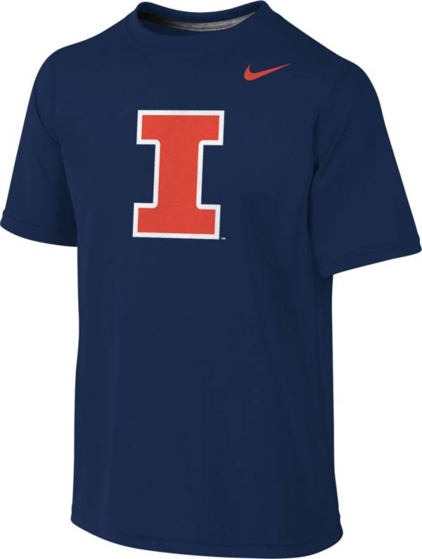 Nike Youth Illinois Fighting Illini Blue Sideline Logo Legend T-Shirt product image