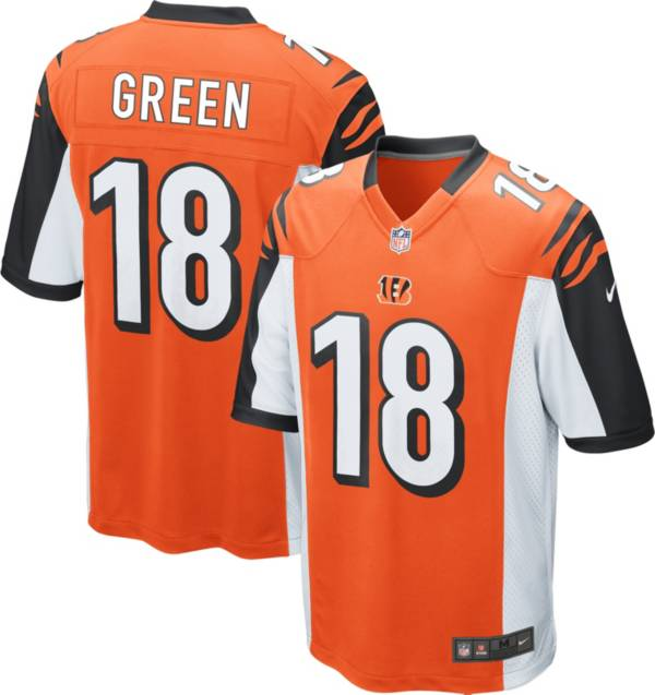 Nike Youth Cincinnati Bengals A.J. Green #18 Orange Game Jersey product image