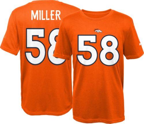 257a40c32 Nike Youth Denver Broncos Von Miller  58 Orange T-Shirt. noImageFound.  Previous