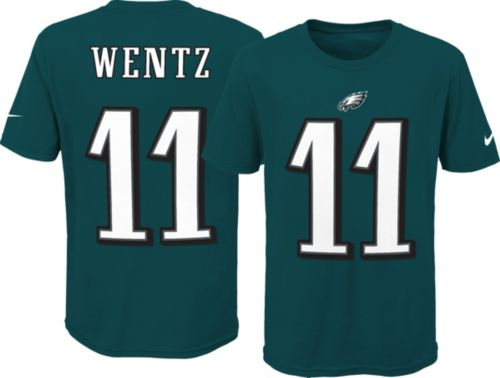 aeeddcccd627 Nike Youth Philadelphia Eagles Carson Wentz  11 Green T-Shirt ...