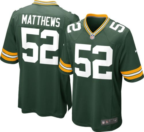 Nike Youth Home Game Jersey Green Bay Packers Clay Matthews  52 ... 5eef4c136
