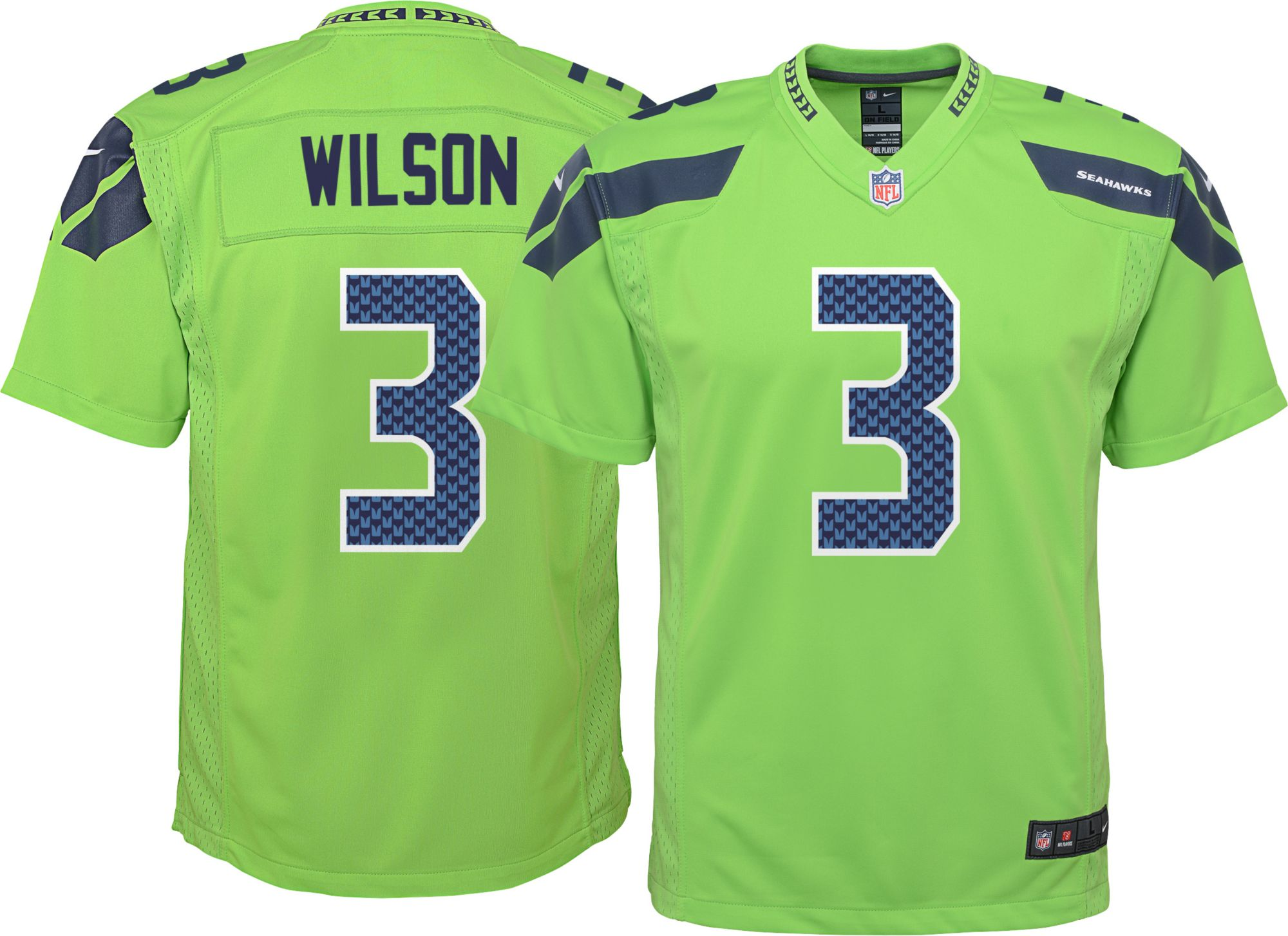 the best attitude bb4bd 277bc seattle seahawks russell wilson youth jersey