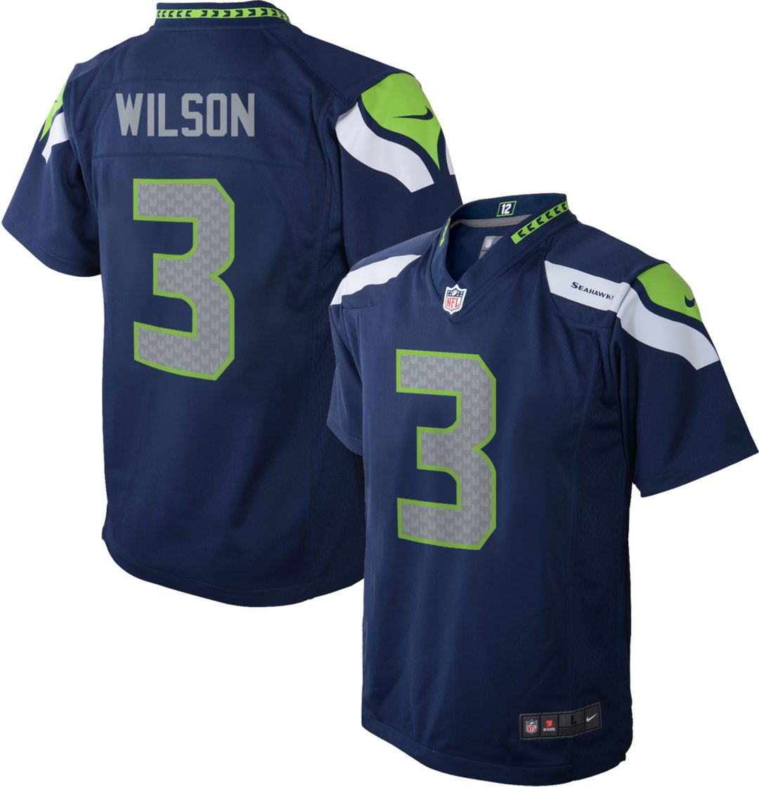 Nice Nike Toddler Home Game Jersey Seattle Seahawks Russell Wilson #3  for sale