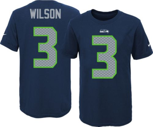423be729252e Nike Youth Seattle Seahawks Russell Wilson  3 Navy T-Shirt