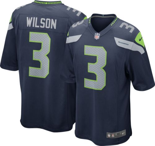 New Nike Youth Home Game Jersey Seattle Seahawks Russell Wilson #3