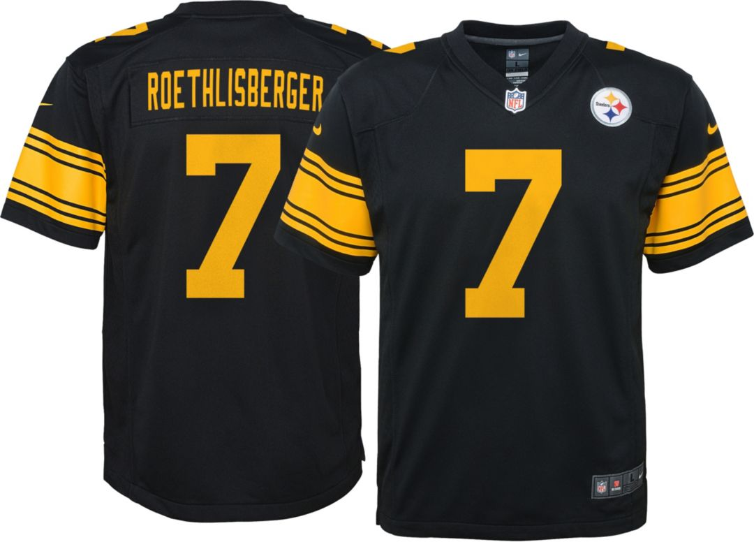 premium selection a4a79 23c90 Nike Youth Color Rush Game Jersey Pittsburgh Steelers Ben Roethlisberger #7