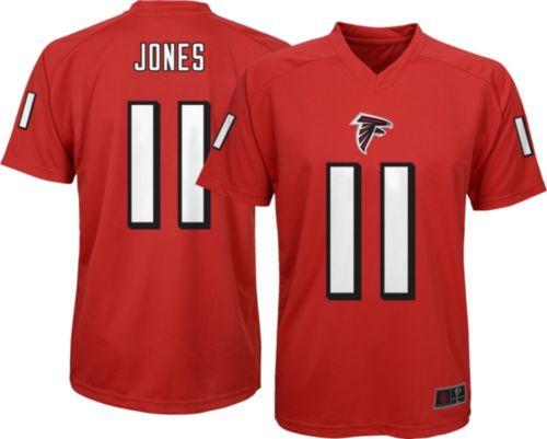 c5116f945 NFL Team Apparel Youth Atlanta Falcons Julio Jones  11 Red T-Shirt.  noImageFound. Previous