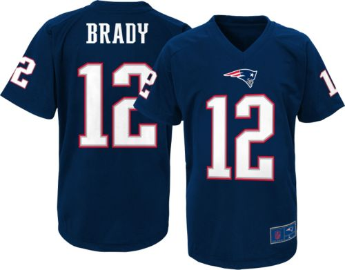 1b717bbed9a NFL Team Apparel Youth New England Patriots Tom Brady  12 Navy T ...